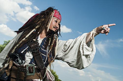 Captain Jack Sparrow Cosplay سے طرف کی SparrowStyle