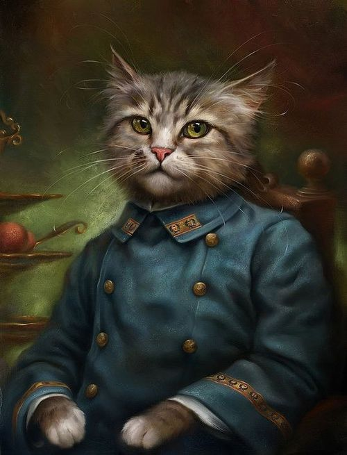 Cats as Classical Paintings