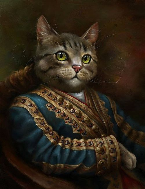 猫 as Classical Paintings