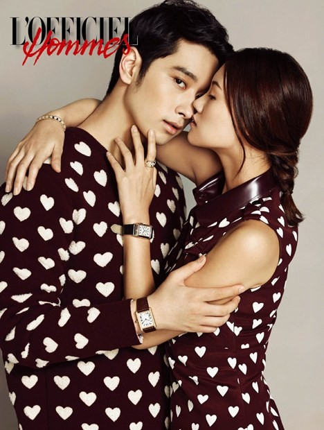 Chansung with 9 different women for 'L'Officiel Hommes'