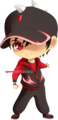 Chibi BoBoiBoy Halilintar (Lightning/Thunder) - boboiboy fan art
