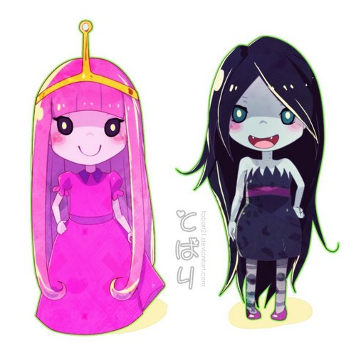 Чиби Bonnibel and Marceline