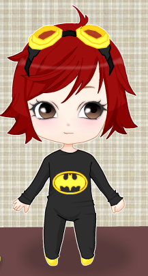 Young Justice OC'S!!! Hintergrund possibly with Anime called Chibi Rene in Her Batman PJ's