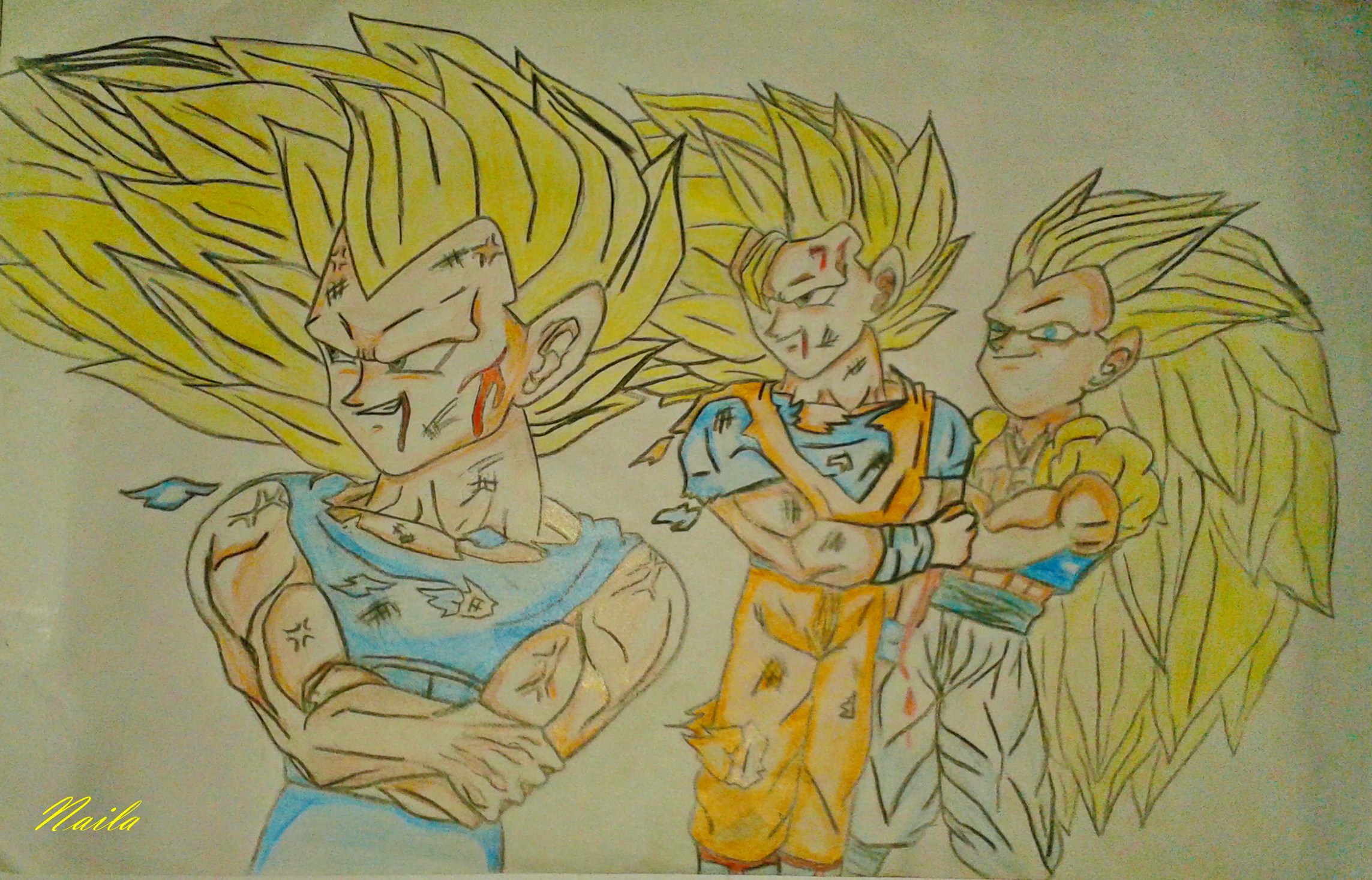 how to draw dragon ball z goku super saiyan 3