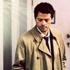 Castiel चित्र with a trench कोट titled Dark Side of the Moon