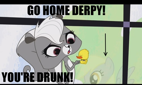 Derpy in what appears to be littlest pet shop.