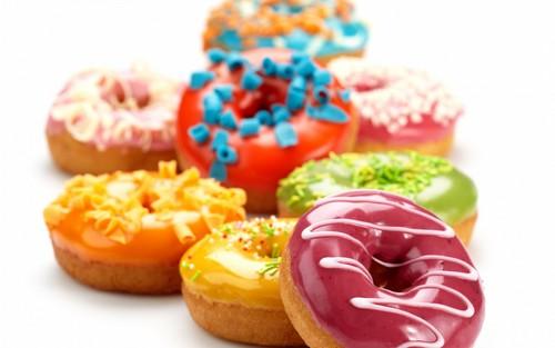 chakula karatasi la kupamba ukuta entitled donuts