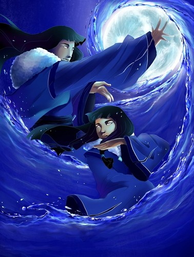 Avatar: The Legend of Korra karatasi la kupamba ukuta called Eska and Desna