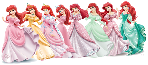 Principesse Disney wallpaper entitled Evolution of Ariel