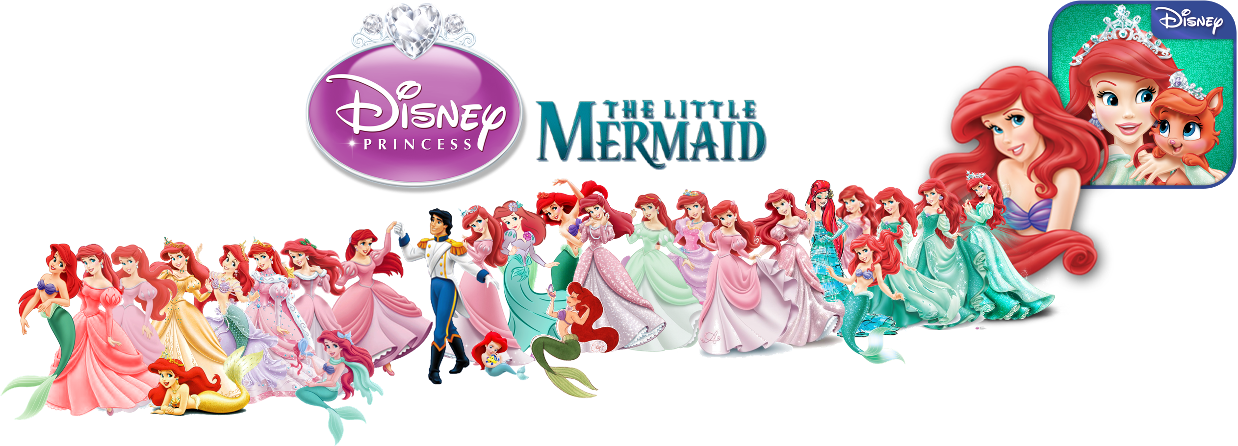 Evolution of Ariel in DP Merch