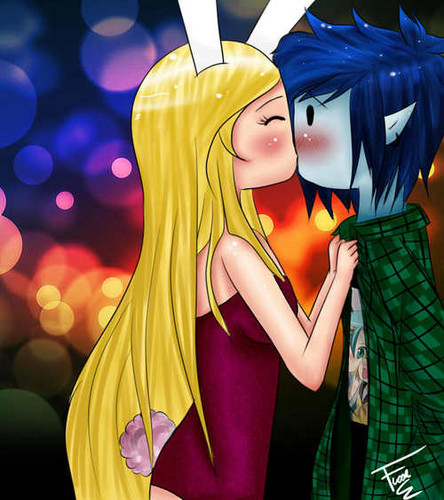 Fiolee (Fionna et Marshal Lee) fond d'écran possibly containing animé called Fiolee Kiss