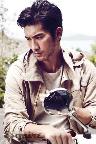 Godfrey Gao wallpaper containing a fuciliere and a green berretto, beret titled G.G.