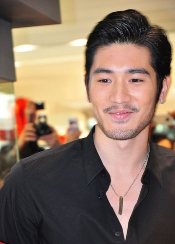 Godfrey Gao wallpaper probably containing a business suit and a portrait titled G.G.