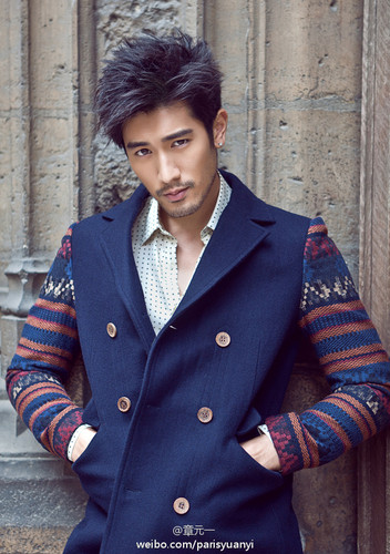 Godfrey Gao wallpaper possibly containing a pisello giacca and a trench cappotto titled G.G.