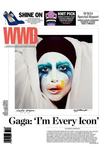Gaga on the cover of WWD