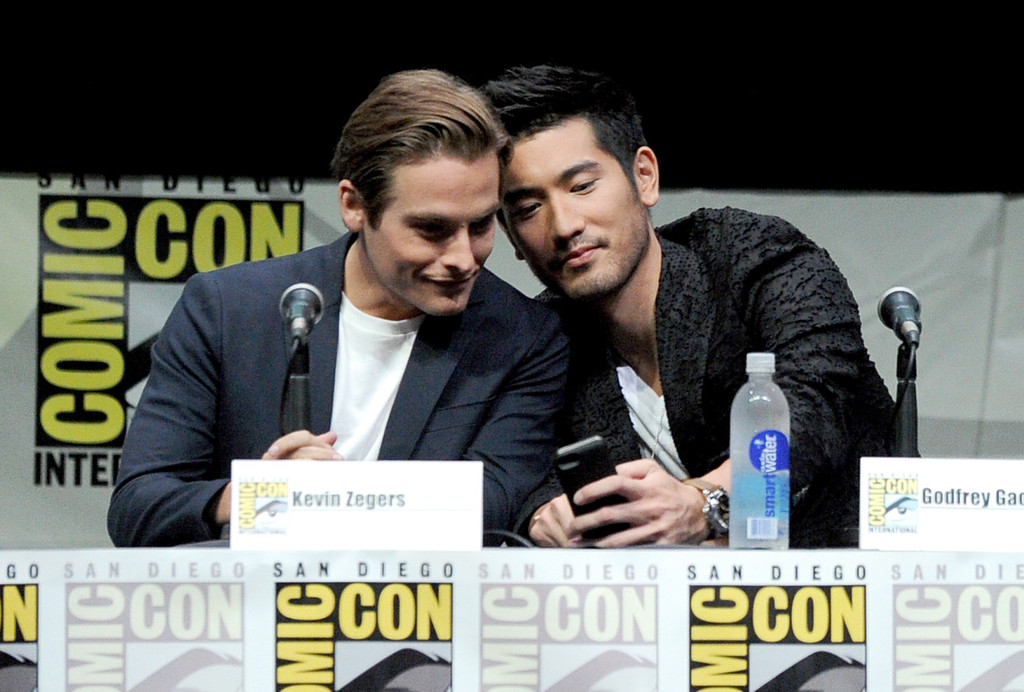 Godfrey Gao and Kevin Zegers [Comic Con 2013]