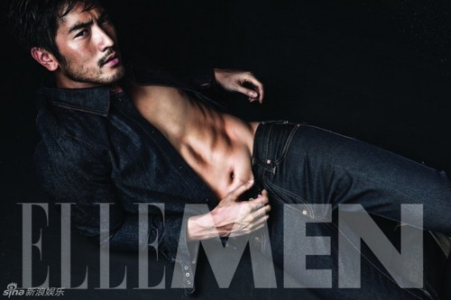 "Godfrey Gao wallpaper titled Godfrey for ""Elle Men"""