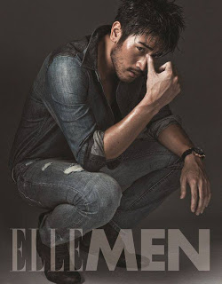 "Godfrey Gao wallpaper possibly containing a sofá called Godfrey for ""Elle Men"""