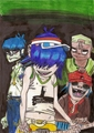 Gorillaz - gorillaz fan art