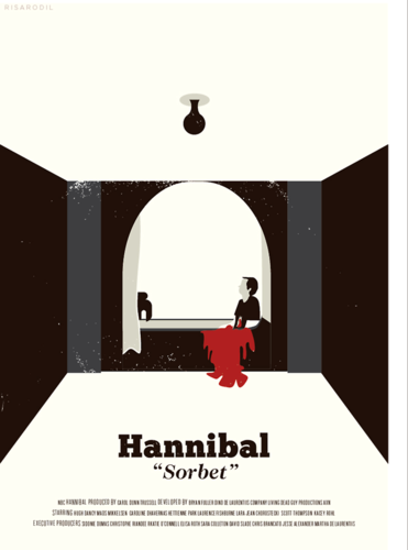 Hannibal TV Series wallpaper possibly with a dressing table and a lectern called Hannibal Season 1 | Episode Poster