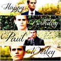 Happy Birthday Paul ♥ - paul-wesley fan art