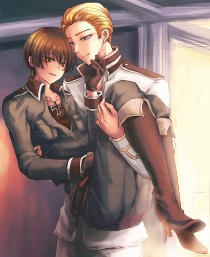 Hetalia germany and italy