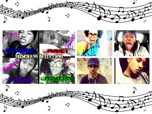 Mindless Behavior wallpaper probably containing a newspaper and a sign called I GOT MINDLESS AFFECTION