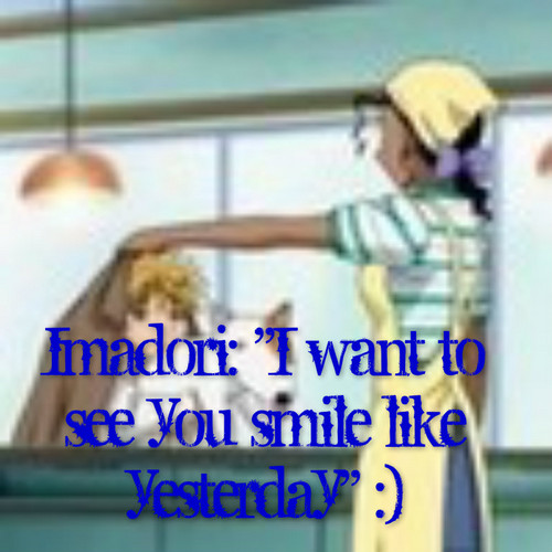 Imadori wants Laura to smile.