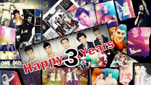 It took me 4ever to create this Happy 3 years One direction <3