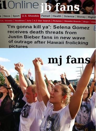 JB fan vs. MJ fan