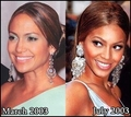 Copycat: Beyonce copies Jennifer Lopez [JLo vs Beyonce 2003] - jennifer-lopez fan art
