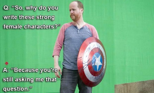 Feminism wallpaper probably with a shield titled Joss Whedon