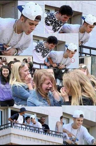 Justin Bieber Spits On fan