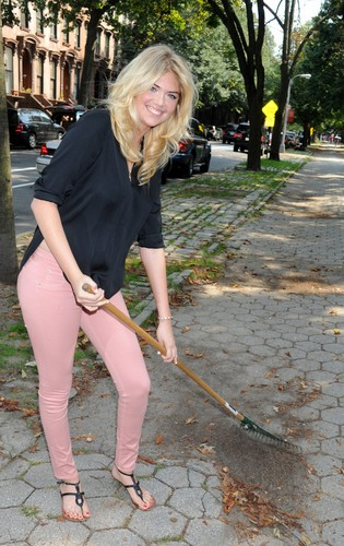 केट अप्टन वॉलपेपर probably containing a croquet, a hoe, and a garden rake titled Kate Upton