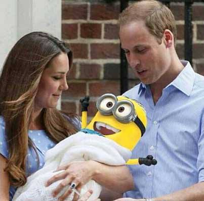 Kate and William become a minion xD