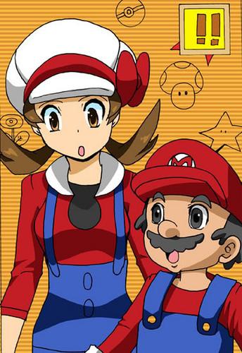 Kotone and Mario