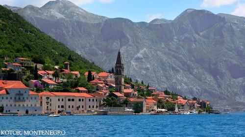 Perast, Adriatic coast beaches Eastern Европа scenery