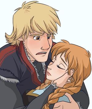 Kristoff and Anna Fanart