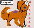 Lionpaw (HeroClan RP) - make-your-own-warrior-cat fan art