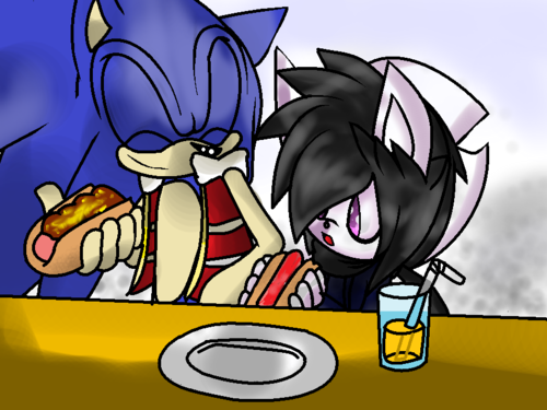Little DJ and her dad Sonic
