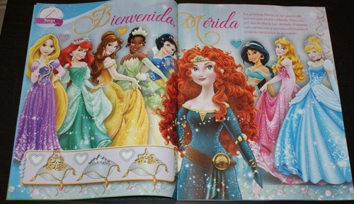 Merida in Spanish ディズニー Princess magazine