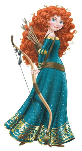 Disney Princess wolpeyper with a bouquet titled Merida with Bow and Arrows