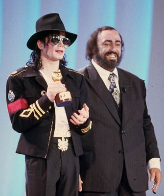 Michael And Luciano Pavarotti