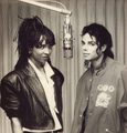 Michael And Siedah In The Recording Studio - michael-jackson photo