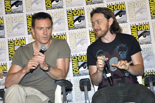 James McAvoy and Michael Fassbender वॉलपेपर possibly with ऐनीमे entitled Michael & James ★