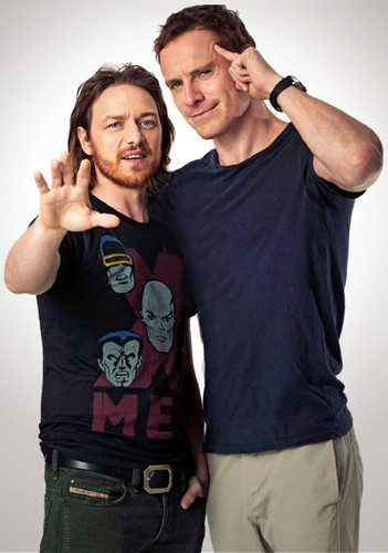 James McAvoy and Michael Fassbender wallpaper containing a jersey titled Michael & James ★