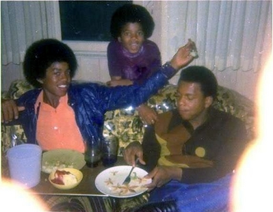 Michael With Older Brother, Jermaine And A Friend