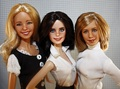 Monica, Phoebe and Rachel dolls