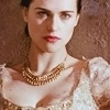 Merlin on BBC photo containing a portrait entitled Morgana