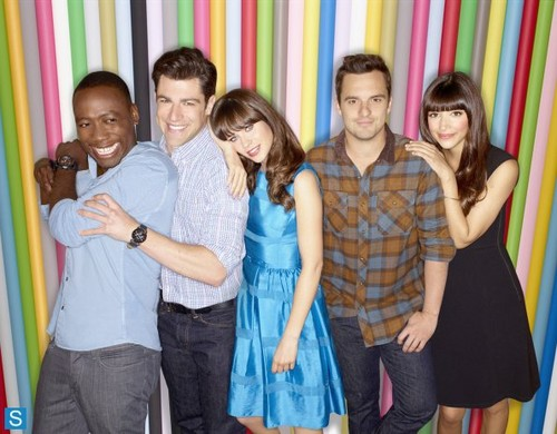 New Girl - Season 3 - Cast Promotional mga litrato